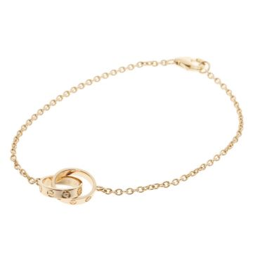 Women's Classic Cartier Love Double Circles Link Bracelet B6027000/B6027100/B6027200 Silver/Yellow Gold/Rose Gold