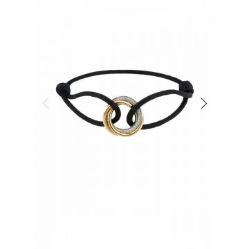 Trinity De Cartier Simple Style Cord Model Tri-color Interlocking Circles Pendant Bracelet For Ladies Online B6033200