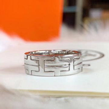 Women's Hot Selling Hermes Hercules H Logo Motif Design High End 925 Sterling Silver Faux Ring For Sale Online