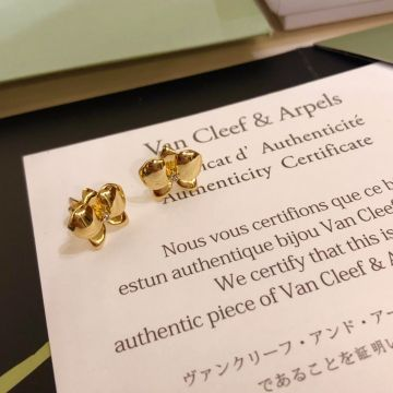 Replica High Quality VCA Vintage Alhambra Polished Clover Charm Female Diamond Earrings Fashion Jewellery Silver/Yellow Gold/Rose Gold