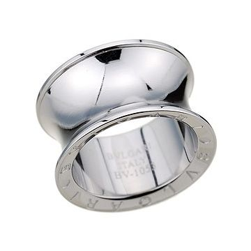 Fake Bvlgari Silver-plated Ring Spool Shape Carved Sign Price In Malaysia Unisex Fine Jewelry