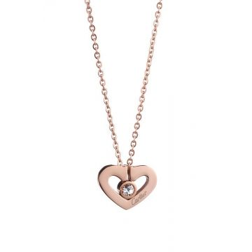 Cartier Women's Hearts And Symbols Rose Gold-plated Inlaid Crystal Pendant Necklace Birthday Gift Sale Canada B3040400