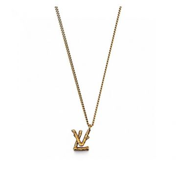 Best Price Jewellery Set Louis Vuitton LV Twig Brass LV Pendant Adjustable Link Chain Fake Necklace/Earrings For Men MP2456/MP2454