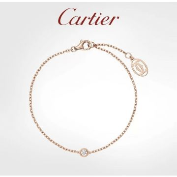 Cartier Diamants Légers CNC Single Diamond Pendant Chain Bracelet Silver/Yellow Gold/Rose Gold Replica