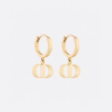 Replica Christian Dior Yellow Gold Plated Classic Petit CD Logo Pendant Females Hoop Earrings High End Jewellery For Sale