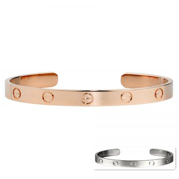 Cartier Love Cuff Bangle Screw Motif Rose/White Gold-plated Classic Style London Sale Lady B6032617/B6032517