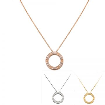 Cartier Love Ladies' Two-row Crystals Screw Motif White/Rose/Yellow Gold-plated Necklace Price In UK B7058400/B7224527/B7058000
