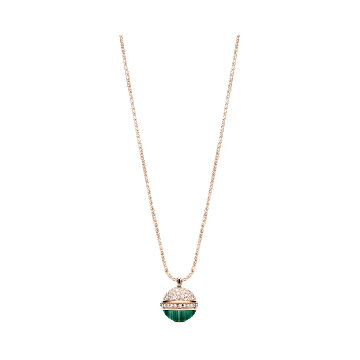Low Price Piaget Possession Malachite & Diamond Pendant Ladies Long Rose Gold Necklace Red/Green G33PB900
