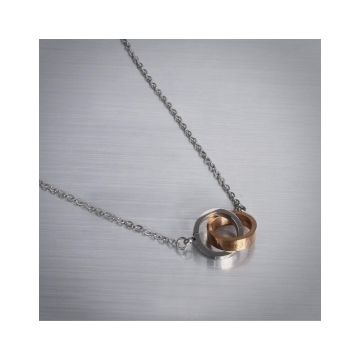 Fashion Cartier Love White/Rose Gold-plated Circle Charm Chain Necklace Decked Screw Detail Price Kuwait Women/Men Sale