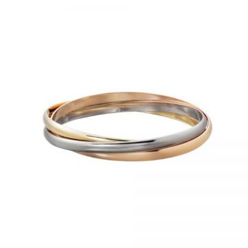 Trinity De Cartier White/Rose/Yellow Gold-plated Tri-circle Bangle New Arrival Malaysia Price For Women B6013302