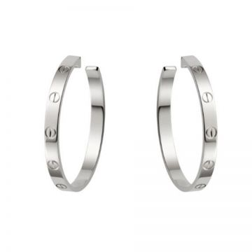 Cartier Love Silver-plated Hoop Earrings Decked Screw Detail Tide  Girl Rock-Roll Sale Canada B8028300