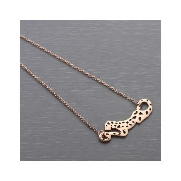 Replica Panthere De Cartier Leopard Pendant Unique Engraved Black Enamel Rose Gold-plated Necklace Unisex Price Sydney