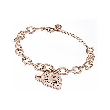 Panthere De Cartier Rose Gold-plated Chain Bracelet Leopard Pendant Chic Style For Office Lady UK