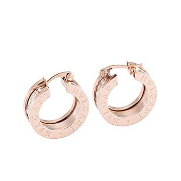 Elegant Bvlgari B.zero1 Diamonds Hoop Symbol Earrings Rose Gold Color Spiral Shape Price Philippines Girls 348036 OR856307