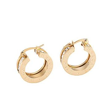 Bvlgari B.zero1 Yellow Gold-plated Hoop Earrings Decked Logo Crystals Celebrities Price UK Vintage Style