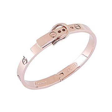 Cartier Love Hook-buckle Clasp Sculpt Rose Gold-plated Bangle Screw Motif Decors Price In India Lady