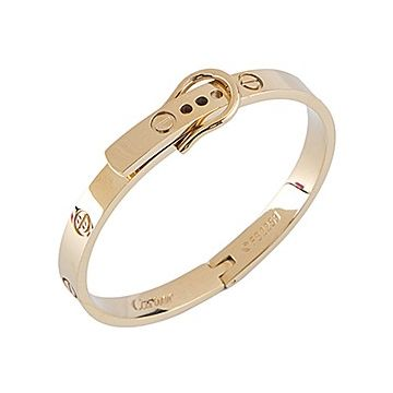 Cartier Love Luxury Gold-plated Bangle Inlaid Screw Detail Angelina Jolie Unisex Style Clasp Design USA