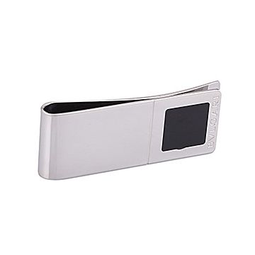 Bvlgari Money Clip Silver-plated With Sign Black Ceramic Elegant Sale Online Shop America
