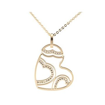 Cartier Hollow Heart Pendant Studded Crystals Gold-plated Chain Necklace Ornate Gift For Women Canada