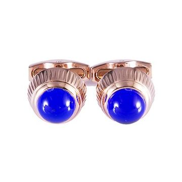 Cartier Rose Gold-plated Cufflinks Blue Adorned Birthday Gift For Men Dubai Sale