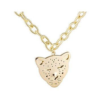 Panthere De Cartier Leopard Head Pendant Gold-plated Thick Chain Necklace Unique Gift For Girls/Boys 2018