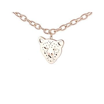 Personalized Panthere De Cartier Unisex Leopard Head Charm Rose Gold-plated Chain Necklace Price In India