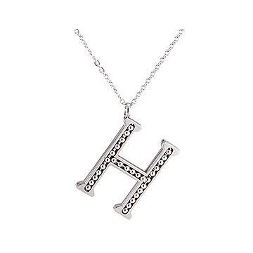 Hermes Silver-plated H Logo Beaded Engraved Pendant Chain Necklace Women/Men Stylish Style 2018 Price List