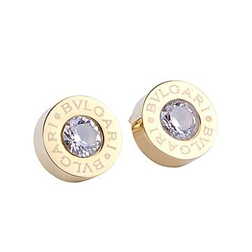 Bvlgari Bvlgari Round Earrings Gold-plated Studded Crystal Women Birthday Gift Price Canada