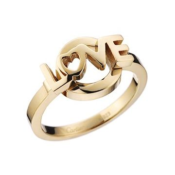Cartier Love Letter Yellow Gold-plated Narrow Ring Sale Online Women Birthday Gift US