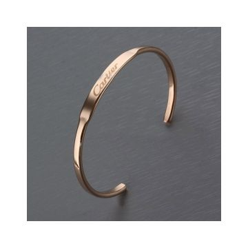 Cartier Narrow Cuff Bangle Silver/Pink Gold Replica Logo Sale Unisex Latest Design Price In Malaysia