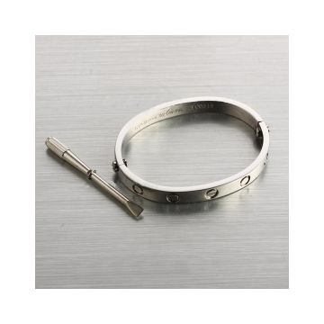 Cartier Love Silver Screw Motif Bangle Celebrity Street Fashion Dupe Screwdriver Unisex Shop Online Philippine