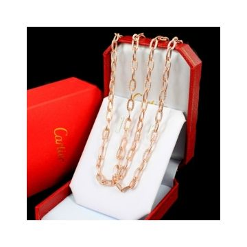 Santos De Cartier Silver/Pink Gold Thick Chain Necklace For Women/Men Online Shopping Sale India B7009000/B7009100