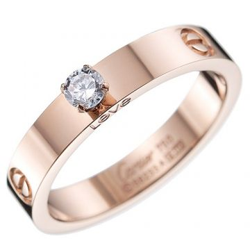 Cartier Love Solitaire Clone Rose Gold-plated Ring Diamond With Screw Detail Review Australia For Women N4250100
