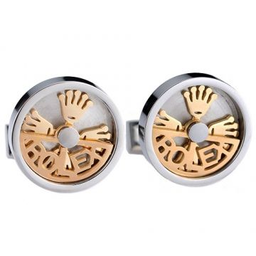 Copy Rolex Silver Cufflinks Gold-plated Crown Logo Ornate And Vintage Style Men For Sale Australia