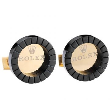 Rolex Black Cufflinks Yellow Gold-plated Decked Fashion Style For Men Light Shirt Online Store Malaysia