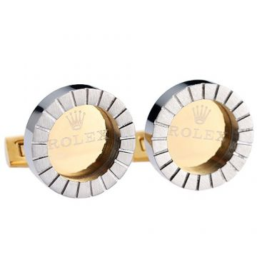 Rolex Silver Gold Two-tone Men Cufflinks Colorful Party Stripe Border White Shirt Online UK