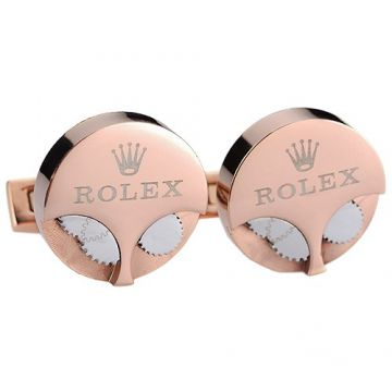 Rolex Unique Style Rose Gold-plated Cufflinks Silver Gear Decked Celebrities Price Singapore Unisex