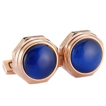 Replica Santos De Cartier Blue Convexity Rose Gold-plated Cufflinks Dating Gift Men Singapore Price