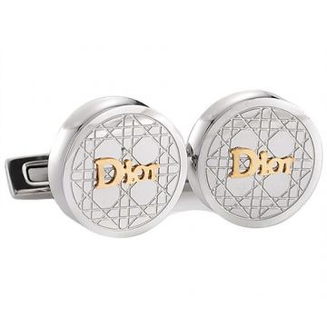 Engagement Gift Dior Silver Cannage Pattern Round Cufflinks Sale Golden Symbol Men Price List London