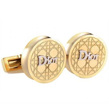 Christian Dior Gold-plated Cannage Motif Cufflinks Fashion Party Silver Signature Sale Men 2018 France