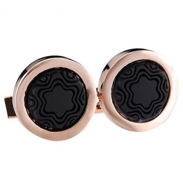 Montblanc Heritage Elegant Rose Gold-plated Cufflinks Meeting For Men Black Logo Detail France Price 2018