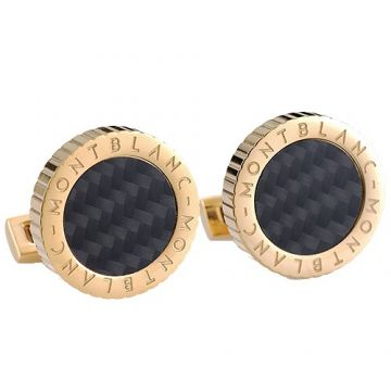 Montblanc Yellow Gold-plated Cufflinks Black Motif Encrusted Symbol Party Style Price Australia Men