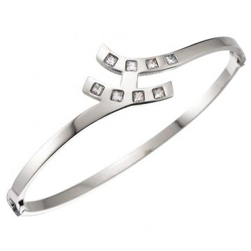 Hermes Diamonds Studded Bracelet Silver-Plated Quality H Logo Thin Bangle Singapore On Sale