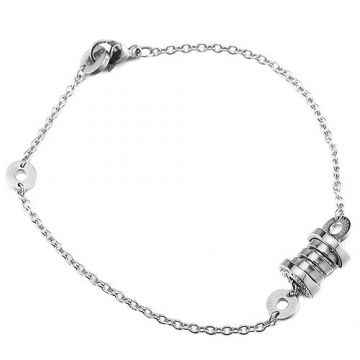 Bvlgari B.zero1 Fashion Silver Chain Bracelet Spiral Decoration Couple Style Price List Philippines BR853720