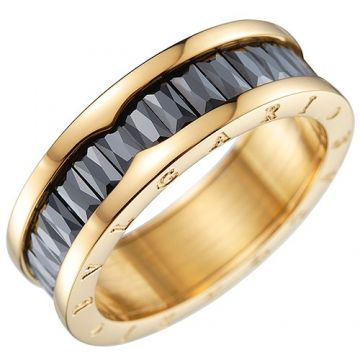 Bvlgari B.zero1 Ring Black Crystals Clone Gold-plated Couple Style Sale Malaysia Review