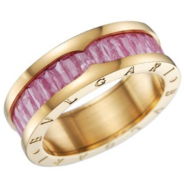 Bvlgari B.zero1 Women Gold-plated Ring Purple Crystals Fashion Style For Women Australia Price