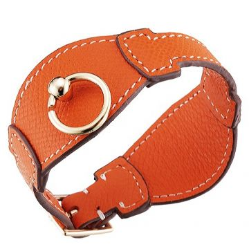 Hermes Fashion Orange Leather Bangle With Gold-Plated Hardware Price In Sydney Couple Style India