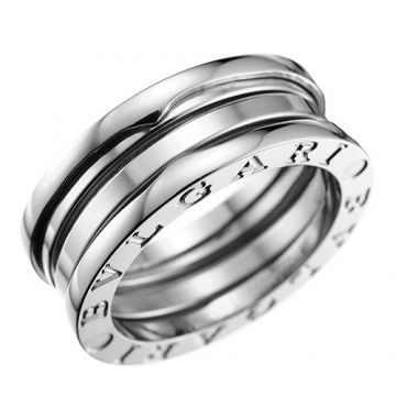 Bvlgari B.zero1 Silver Ring Engraved Symbol Classic Online Store London Unisex Style AN191024