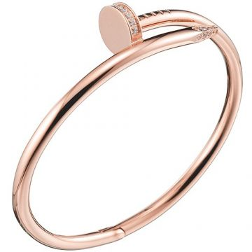 Noble Cartier Juste Un Clou Screw Bracelet With Crystals Rose Gold-plated Girls Sale B6048517