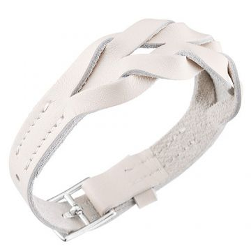 Hot Sale Hermes Hippique 316L Steel Buckle White Woven Leather Bracelet Rock Girls/Boys Australia